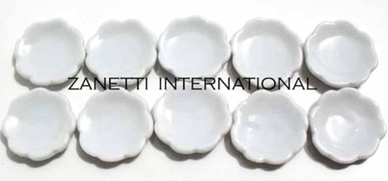 sc 1 st  SuperMiniatures.net & 10 Dollhouse Miniature White Ceramic Plates